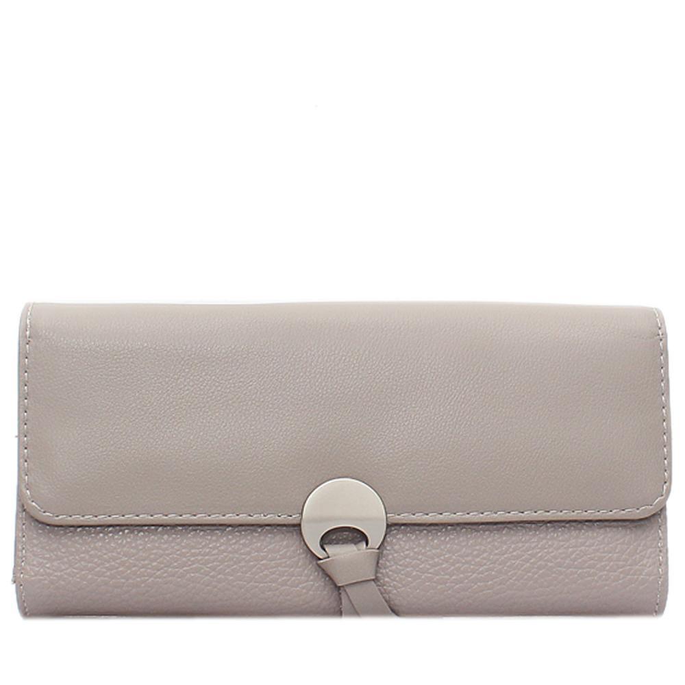 Khaki Leather Ladies Wallet