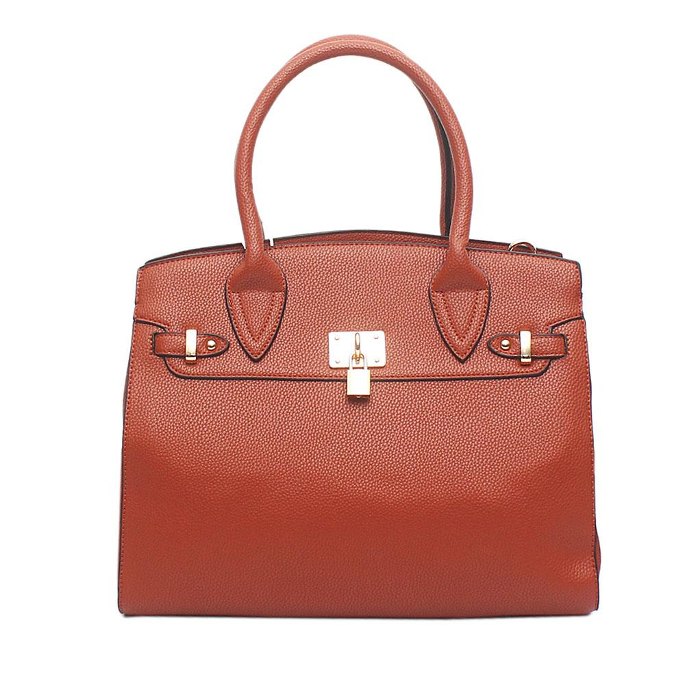 Avatar Brown Leather Tote Bag