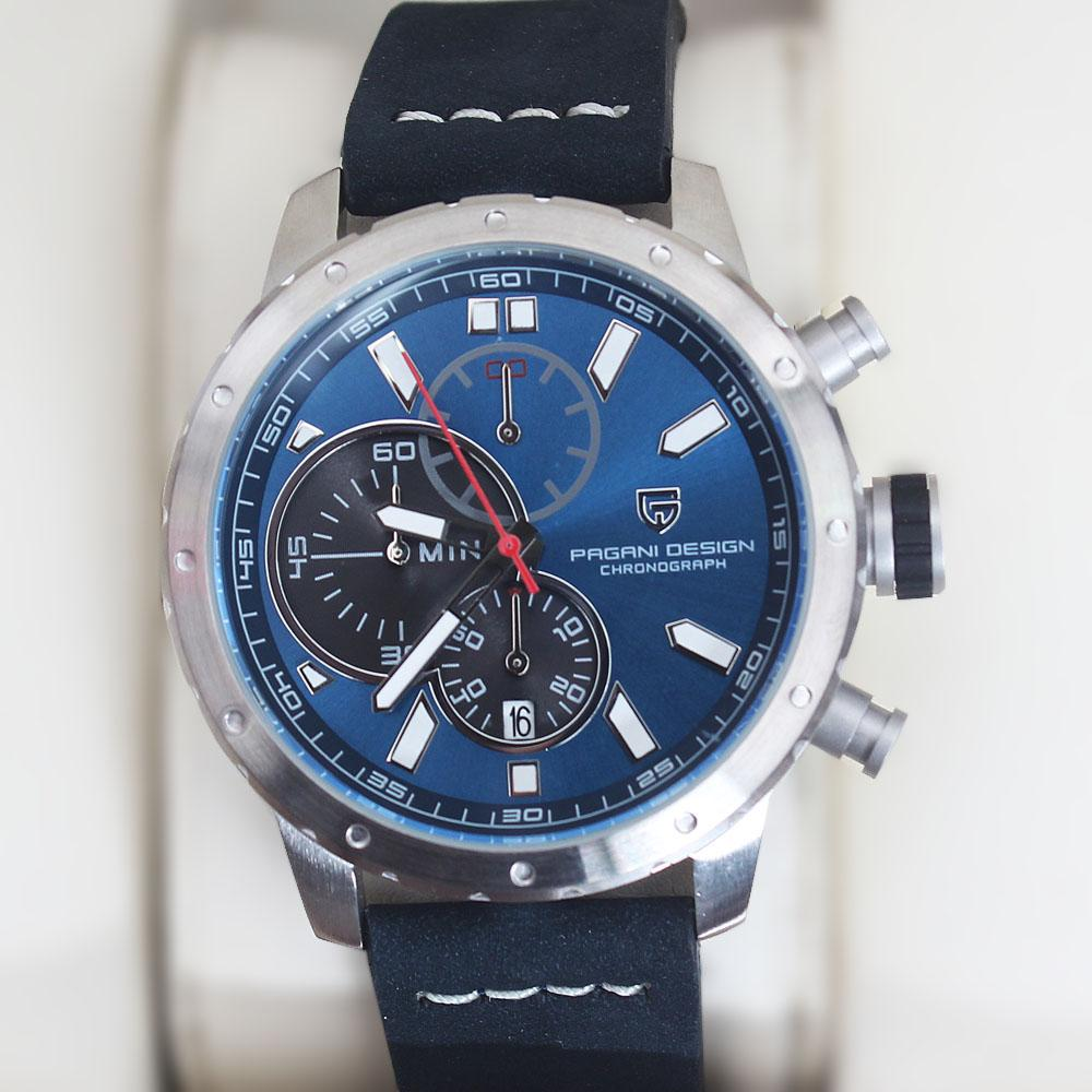 P-Design Navy Sport Chronograph Watch