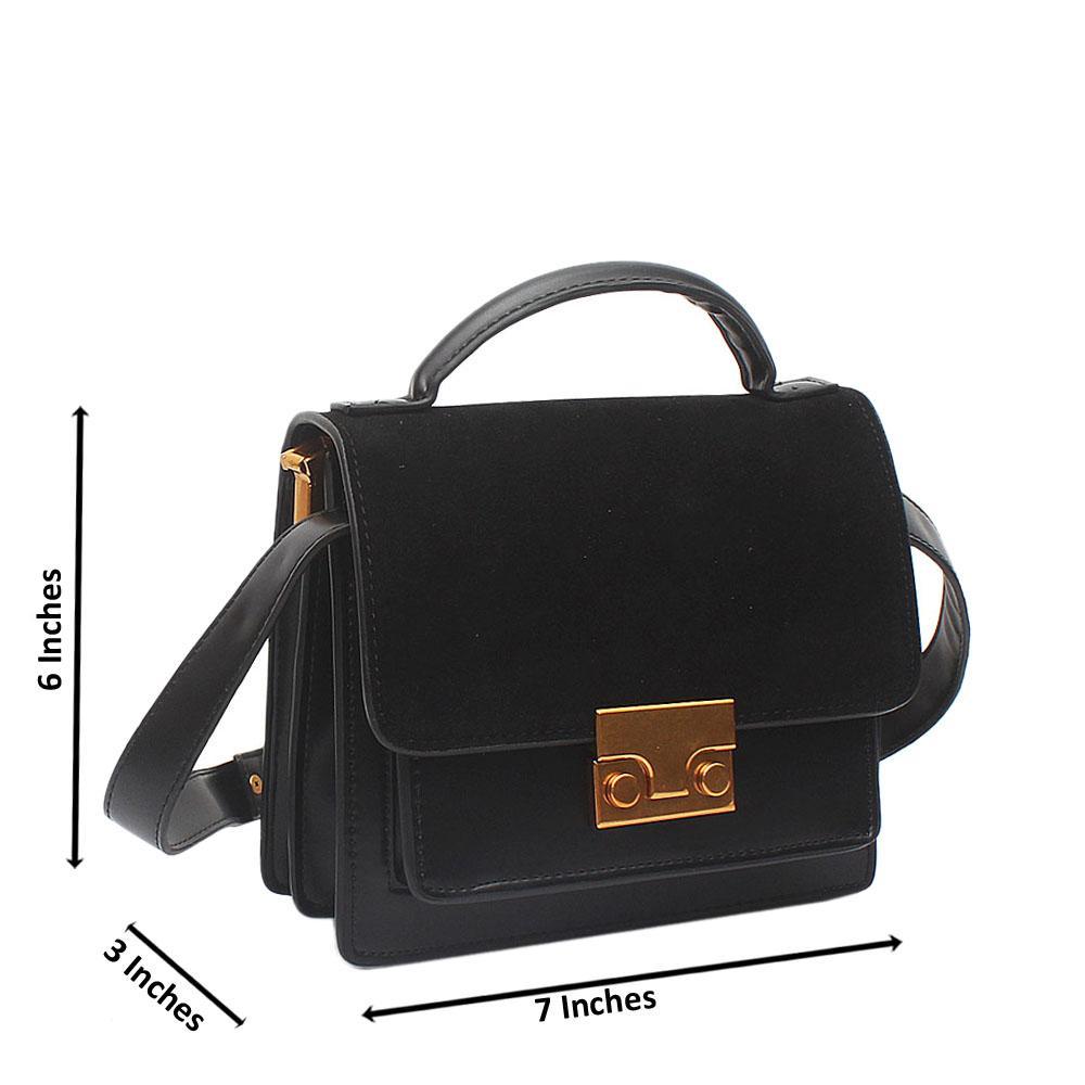 Black Mini Sara Suede-Leather Bag