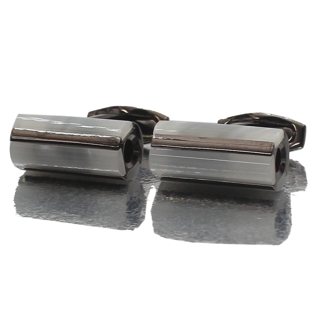 Black Pearl Stainless Steel Cufflinks