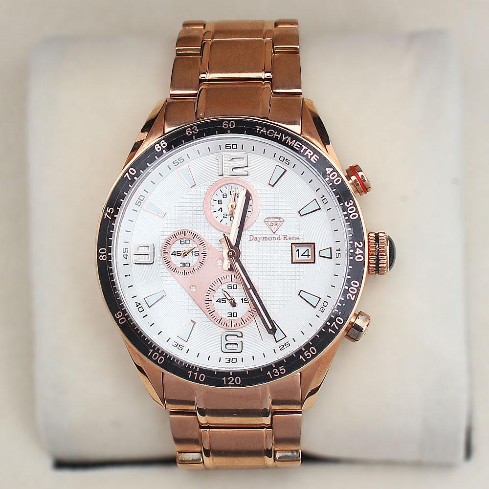 Daymond Rene 10ATM Rose Gold Steel Automatic Watch