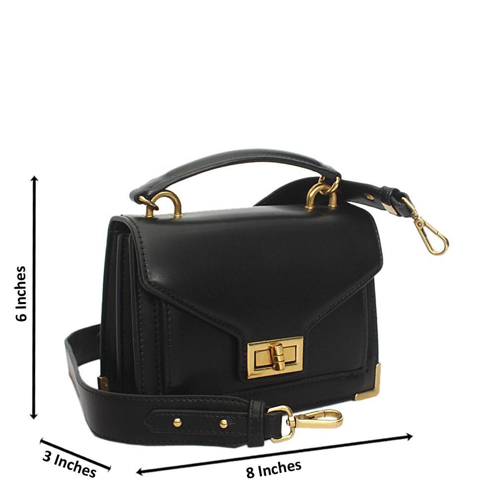 Black Cutie Leather Mini Top Handle Handbag