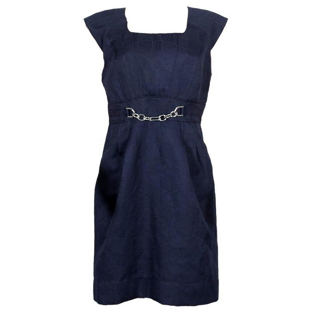 Sandra Daren Navy Sleeveless Ladies Dress-Uk12