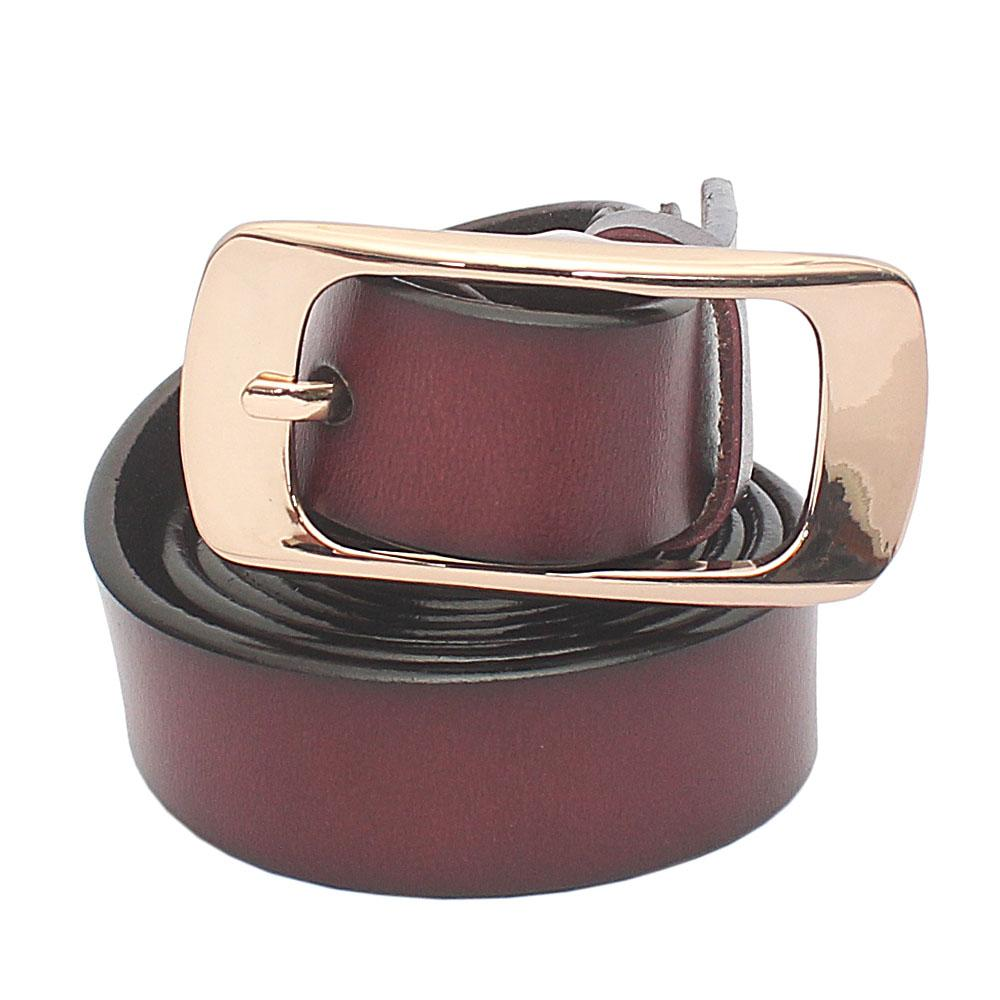 Tan Brown Premium Leather Ladies Belt