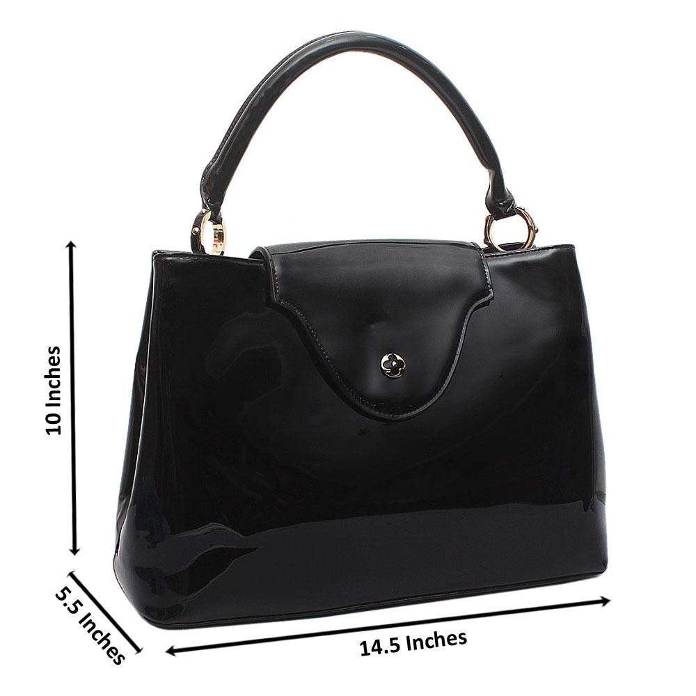 Black-Maxi-Trend-Patent-Leather-Handbag