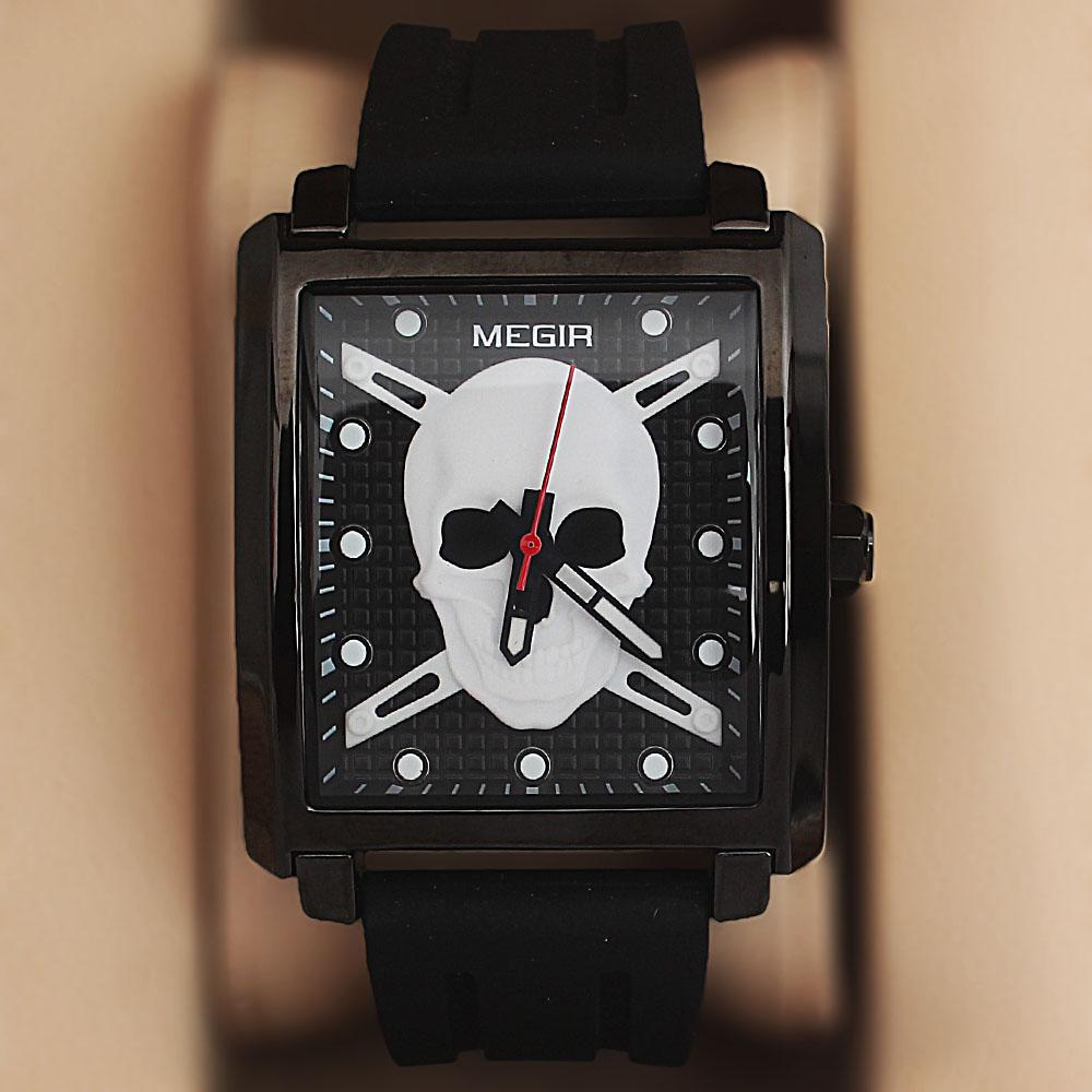 MG Black Rubber Strap Pirate Watch