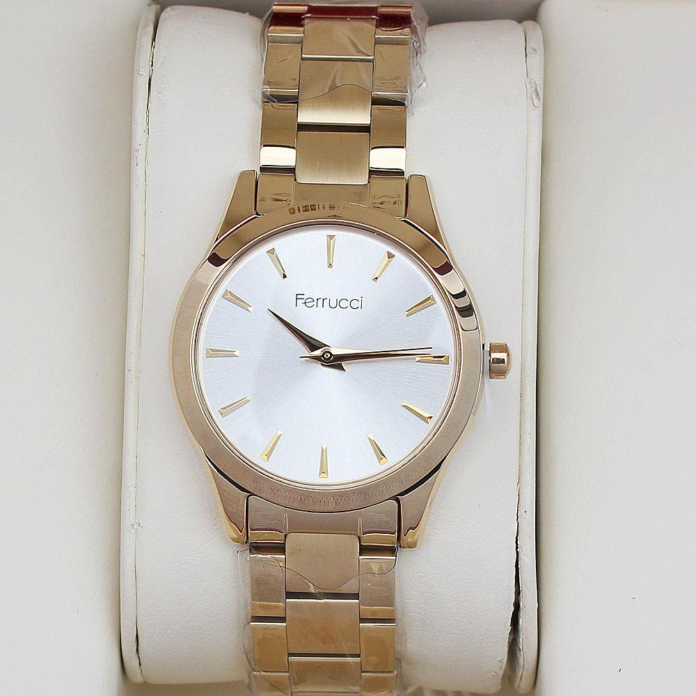 Ferrucci Classic Yellow Gold Ladies Watch