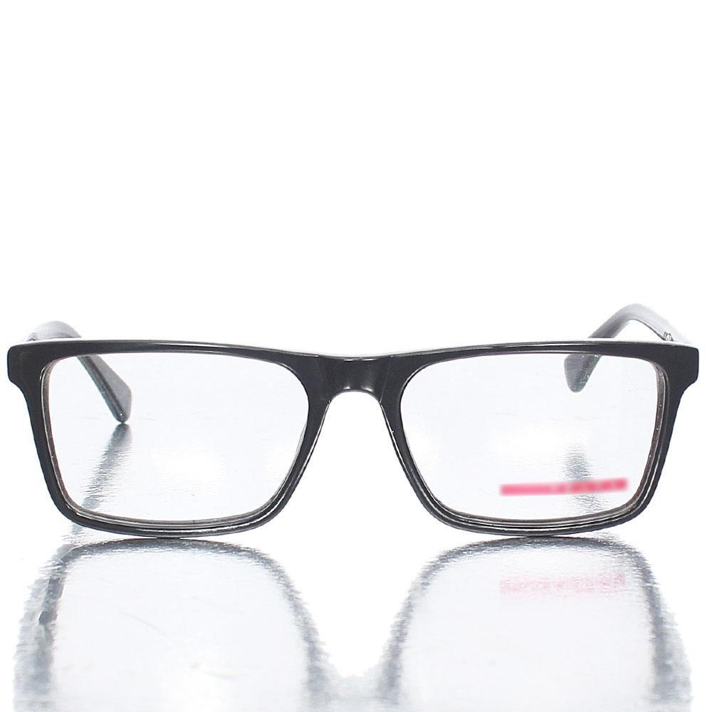 Black Retro Square Transparent Lens Glasses