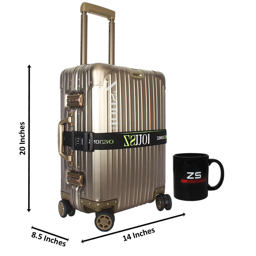 Metallic Gold World Traveller Aluminum 20 Inch Carry on Suitcase