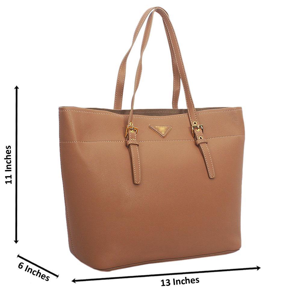 Khaki Tuscany Leather Shoulder Handbag