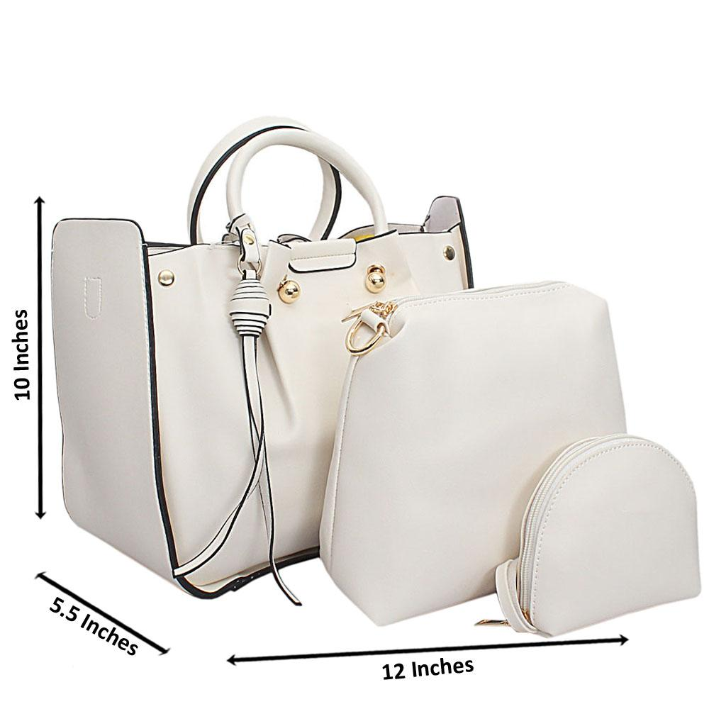 White-Leather-Medium-Nice-Handbag