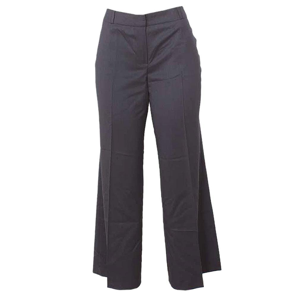 M&S Wide Leg Deep Blue Ladies Trouser-Uk 16