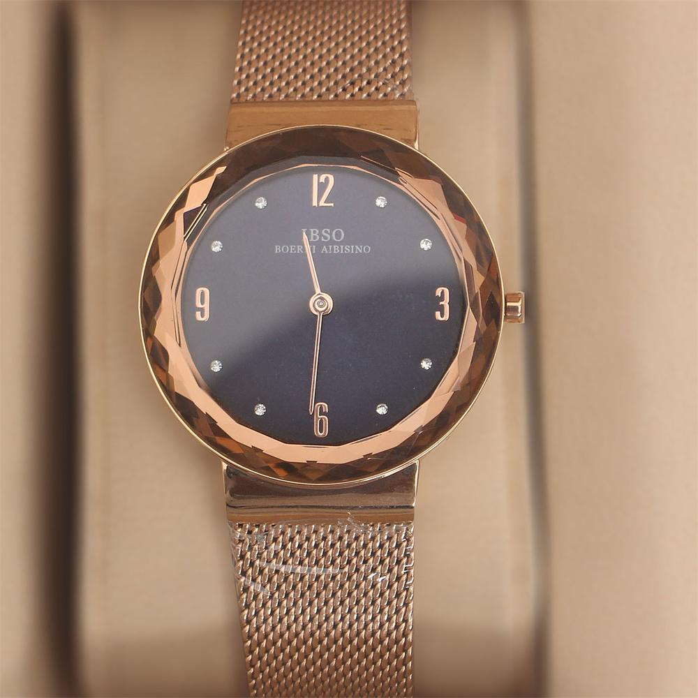 Avallon Rose Gold Stainless Mesh Ladies Watch