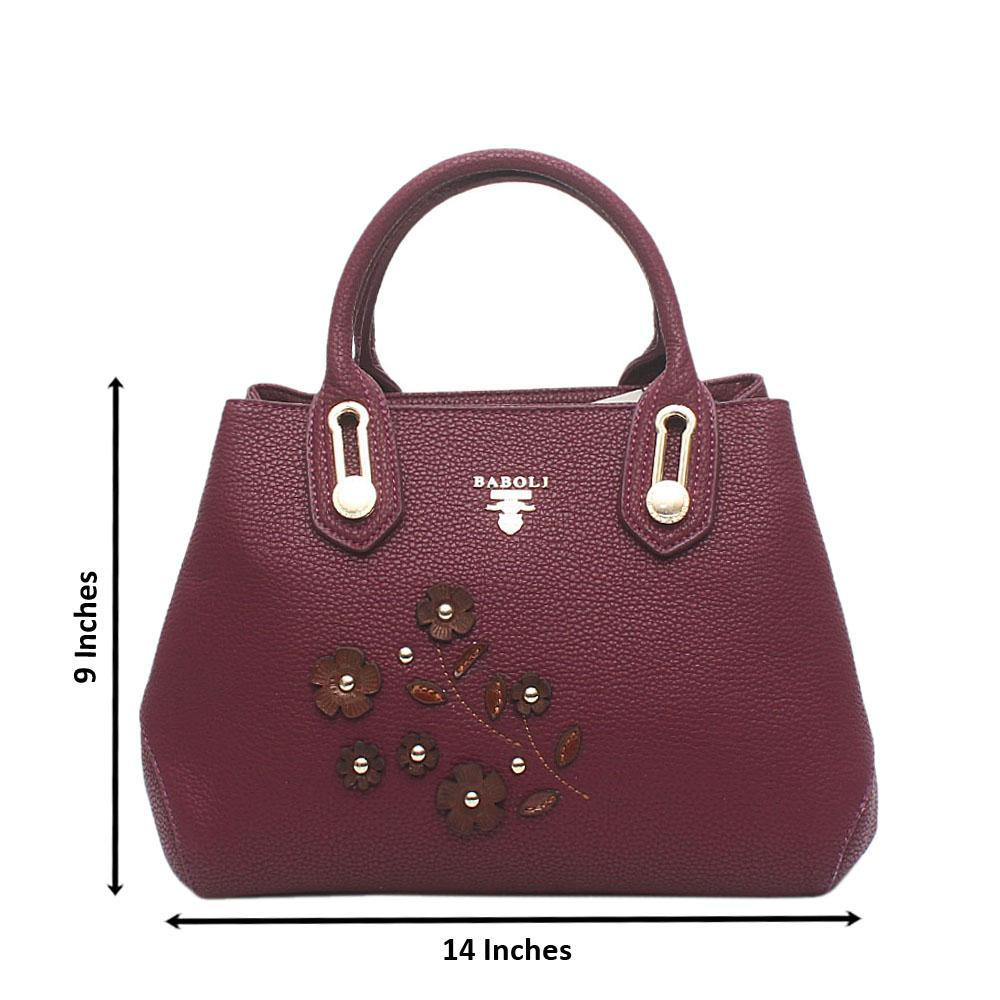 Baboli Mauve Leather Handbag