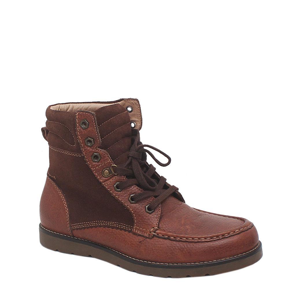 M&S Airflex Brown Leather Men's Ankle Casual Shoe-Sz 40.5
