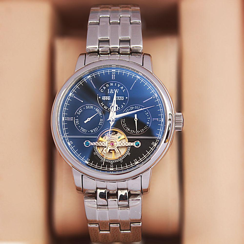 Shanghai Navigator Silver Stainless Steel Automatic Watch