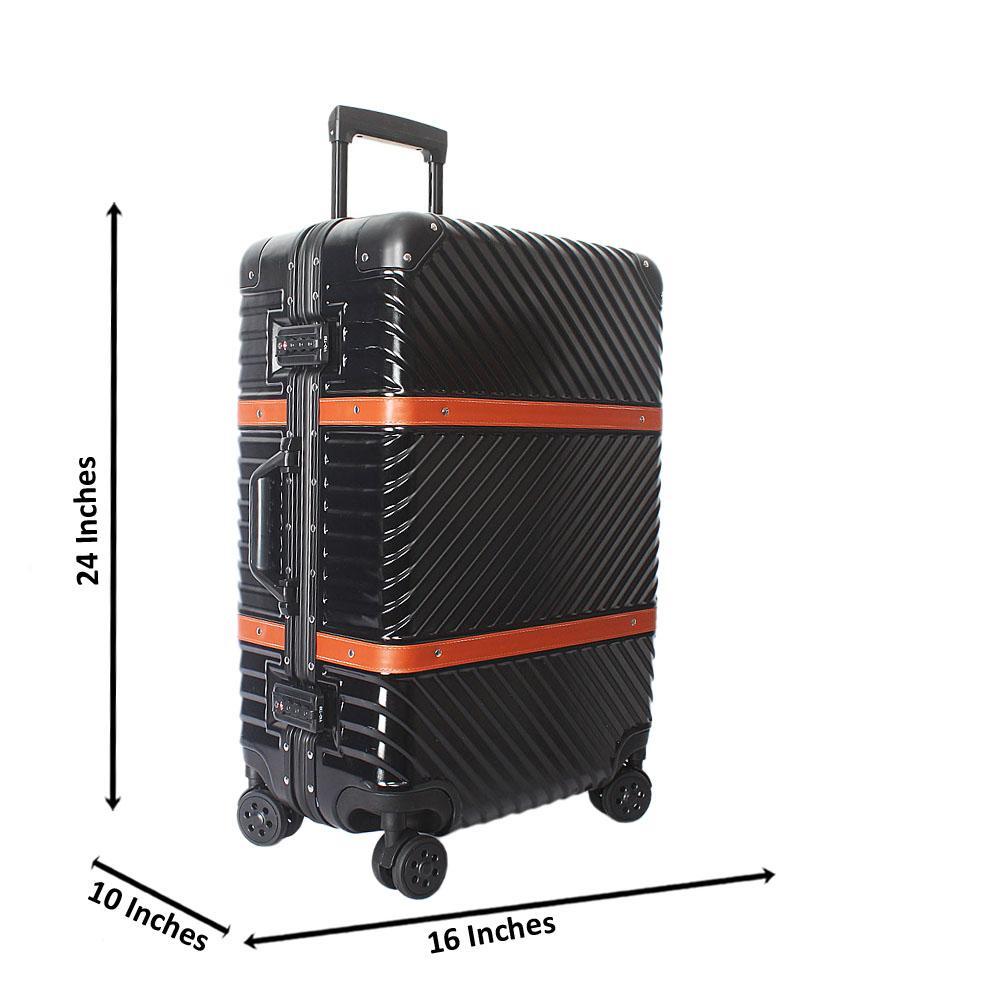 Titanium 24 Inch Hardshell 4 Wheels Spinners Medium Suitcase