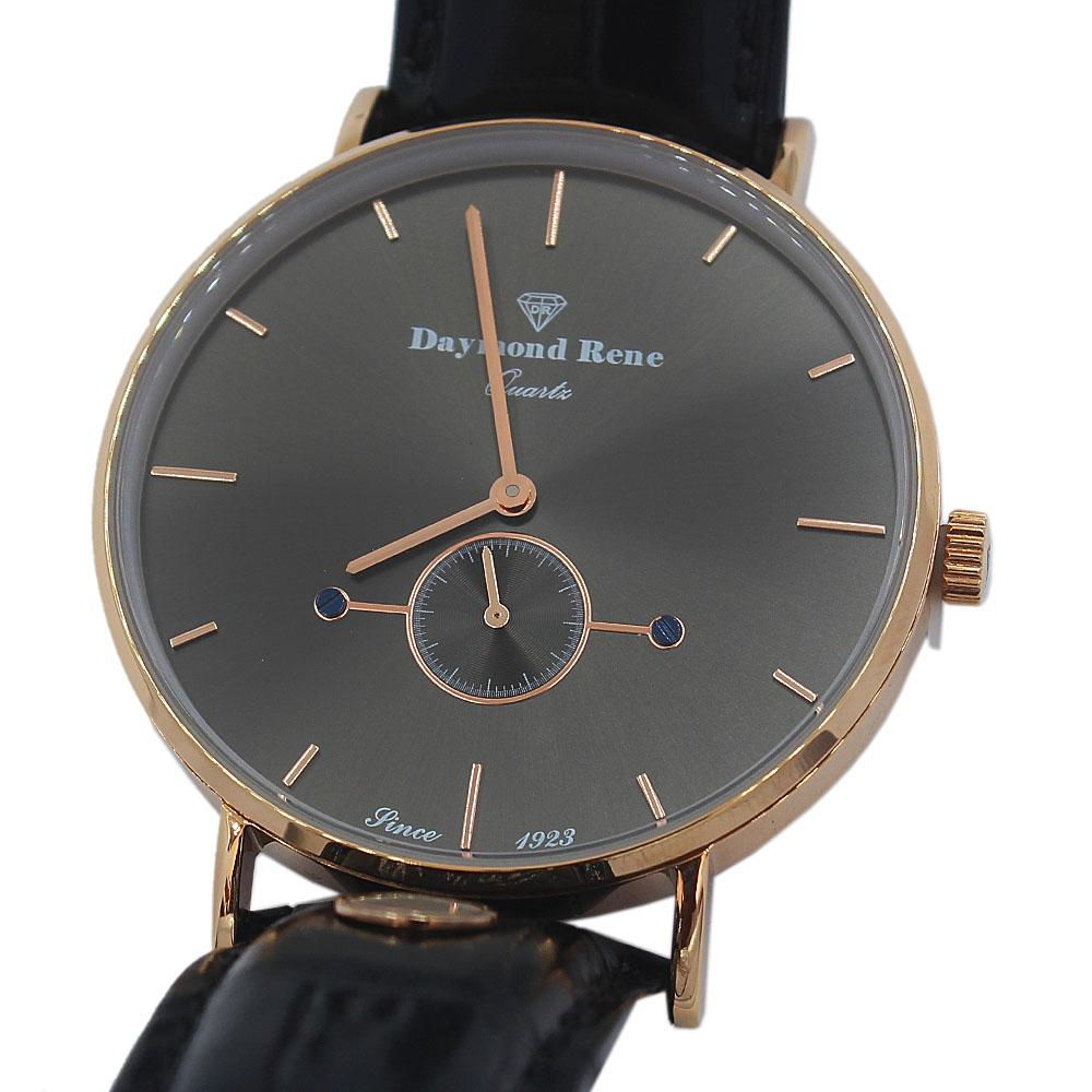 DR 3ATM Rose Gold Black Leather Classic Watch