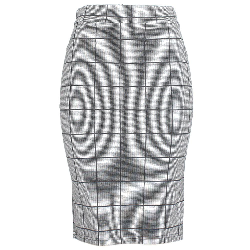 Monochrome Cotton Stretch Skirt