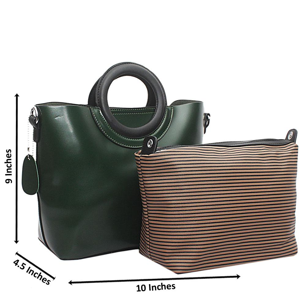 Green Mel-Rose Leather Small Handbag
