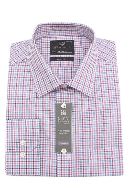 M & S Collection Multicolor  L/Sleeve Men Shirt