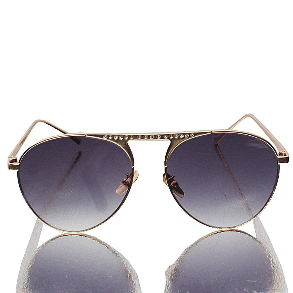 Gold Pilot Dark Lens Sunglasses