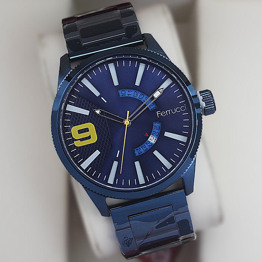 Ferrucci Xraka Blue Stainless Steel Fashion Watch