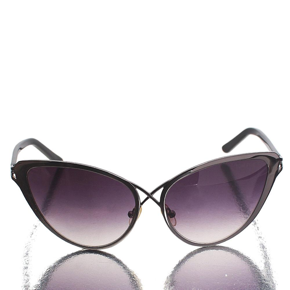 Black Queenie Dark Lens Cat-Eye Sunglasses