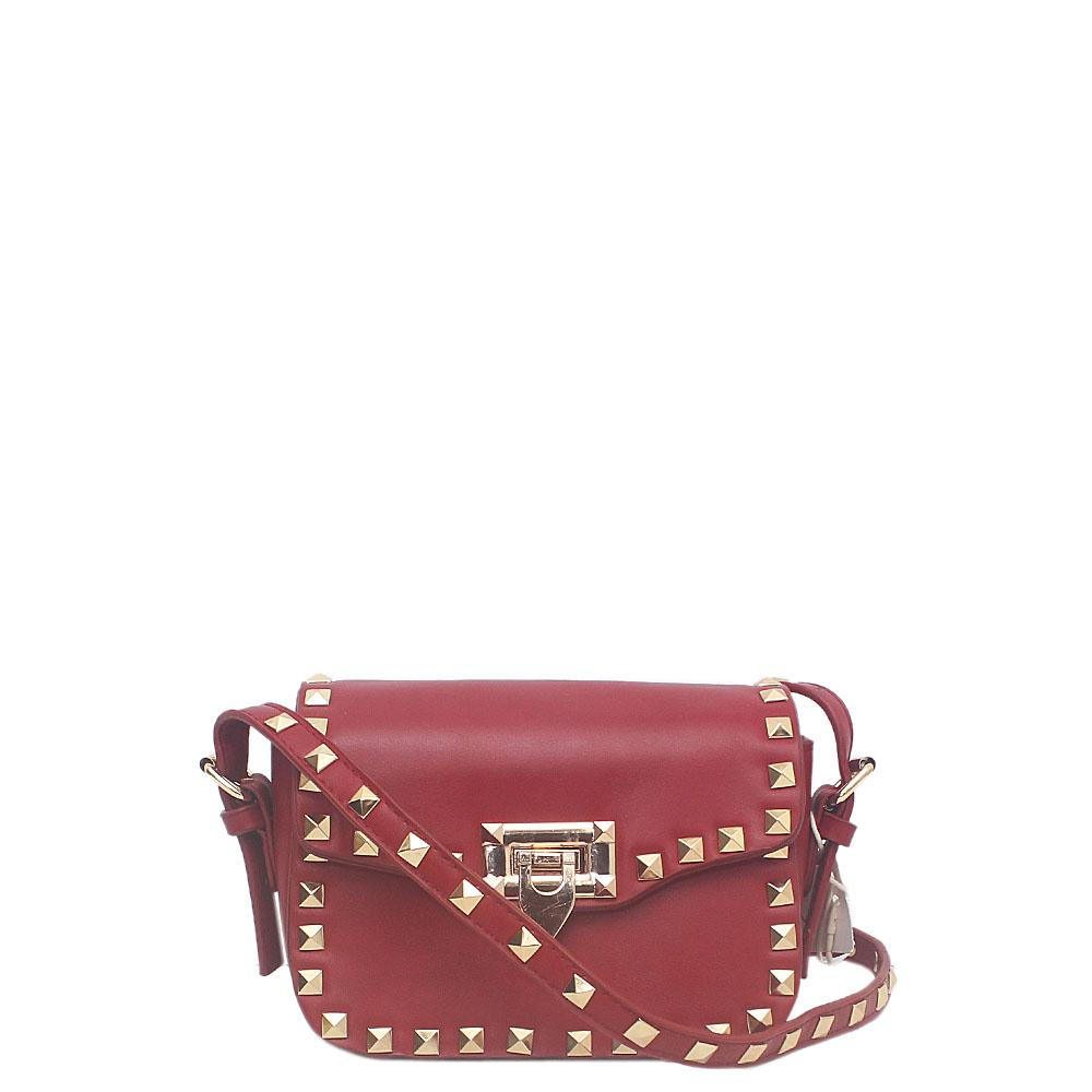 Red Leather Mini Cross Body Bag