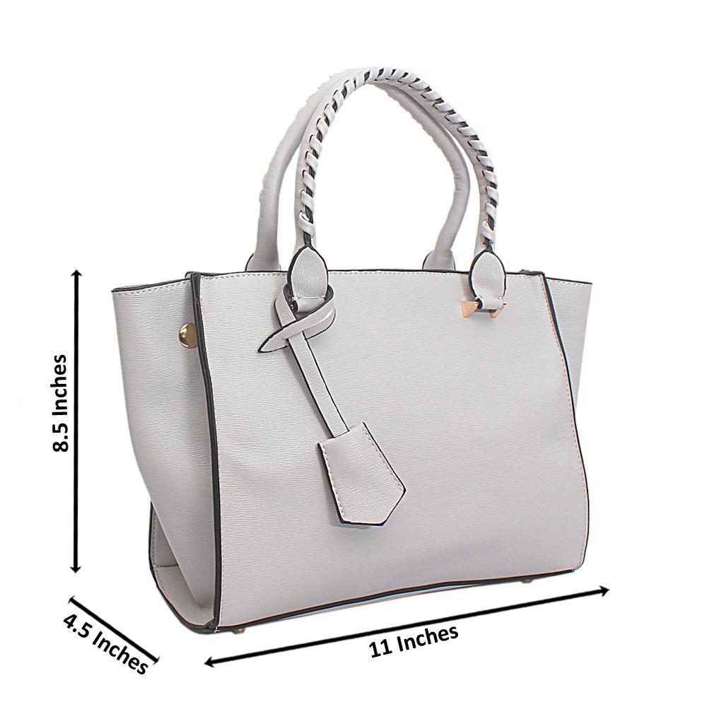 Grey Leather Swift Barbie Handbag