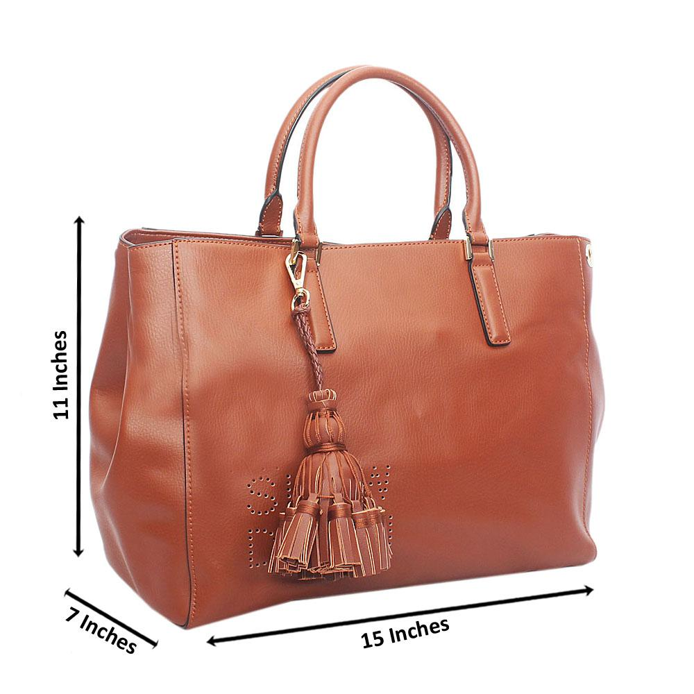 Classy Brown Slowdown Cow Leather Handbag