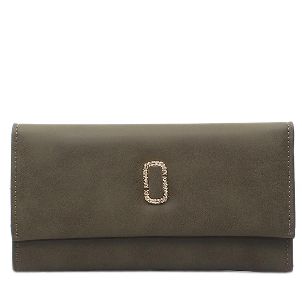 Green Leather Ladies Wallet