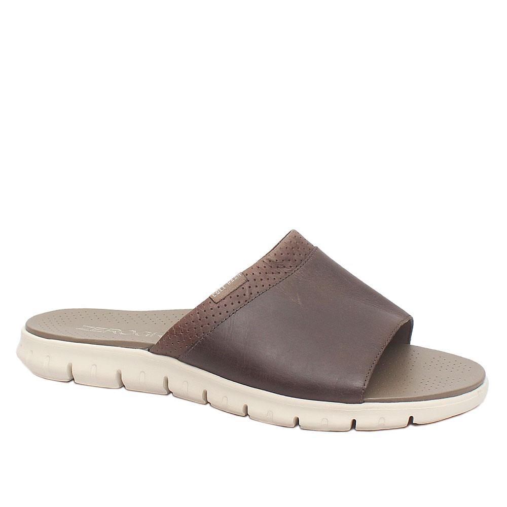 Cole Haan Zerogrand Brown Premium Leather Men Slippers