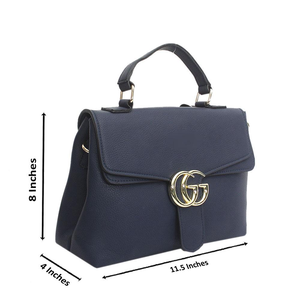Navy Leather Small Diana Handbag
