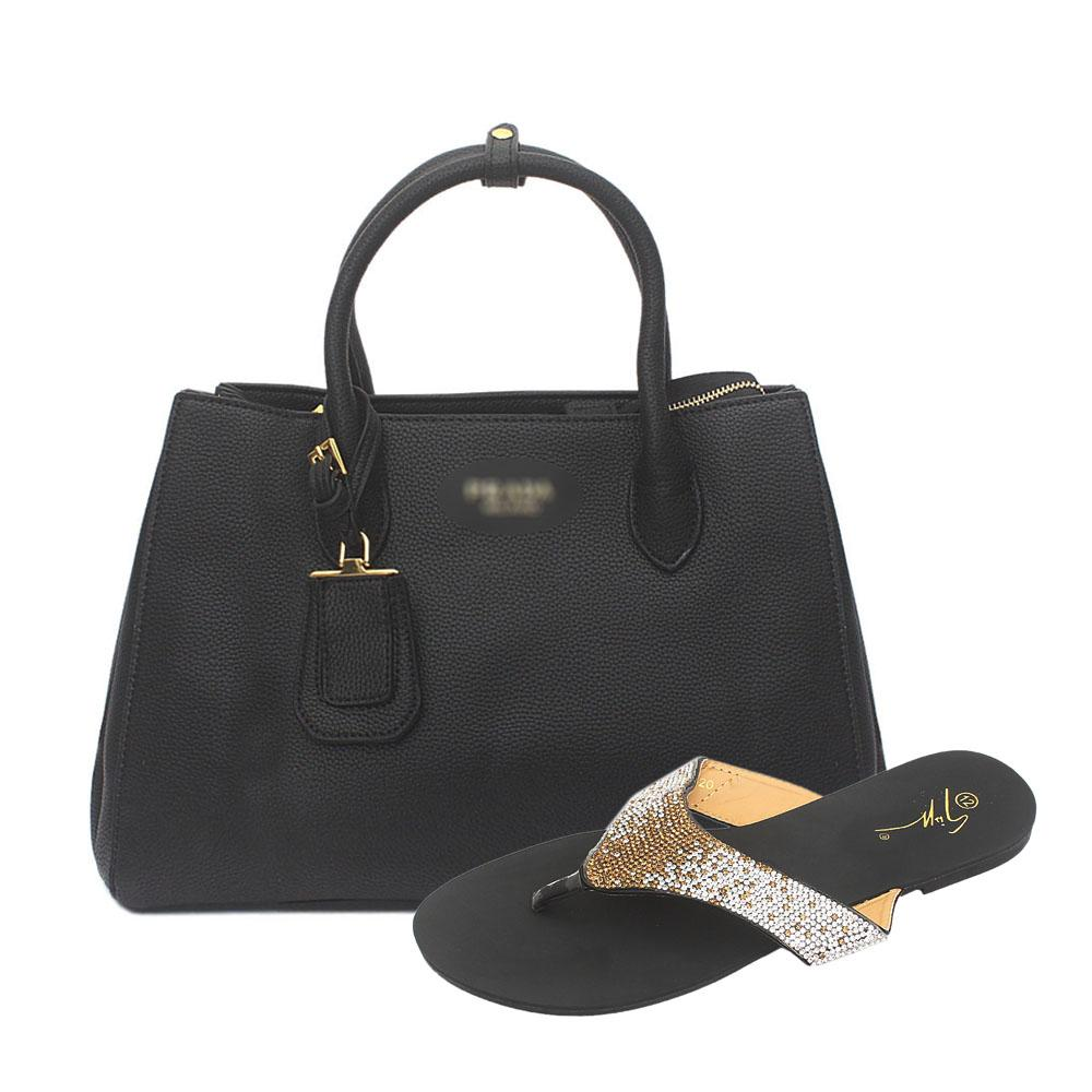 Black Milano Leather Tote Bag