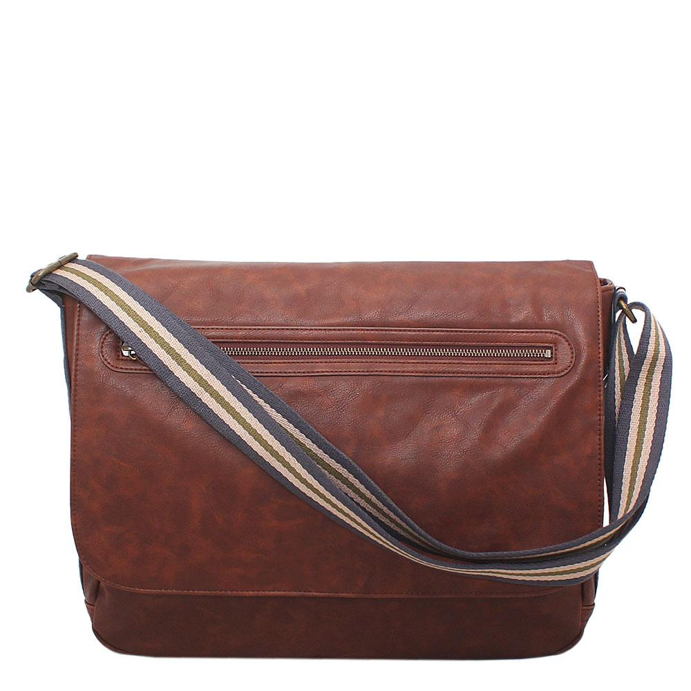 M&S Valenia Brown Leather Laptop Bag