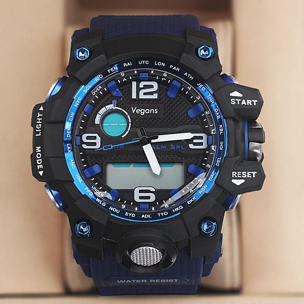 Vegans Royal Blue Dual Time Watch wt Extra Straps
