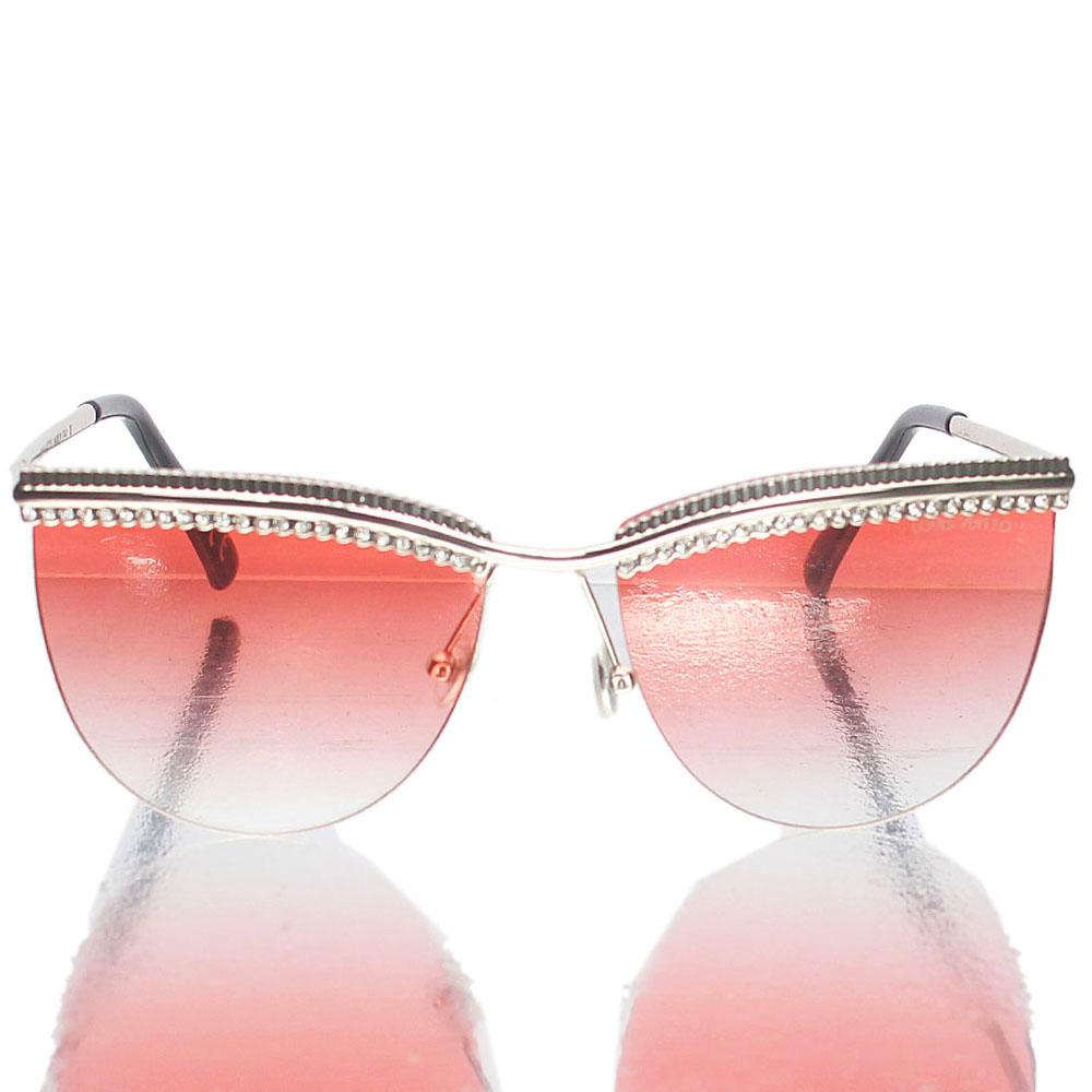 Silver Club Master Pink Lens Sunglasses
