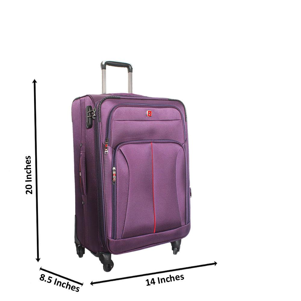 Saint Purple 20 Inch Fabric 4 Wheels Spinners Carry On Luggage