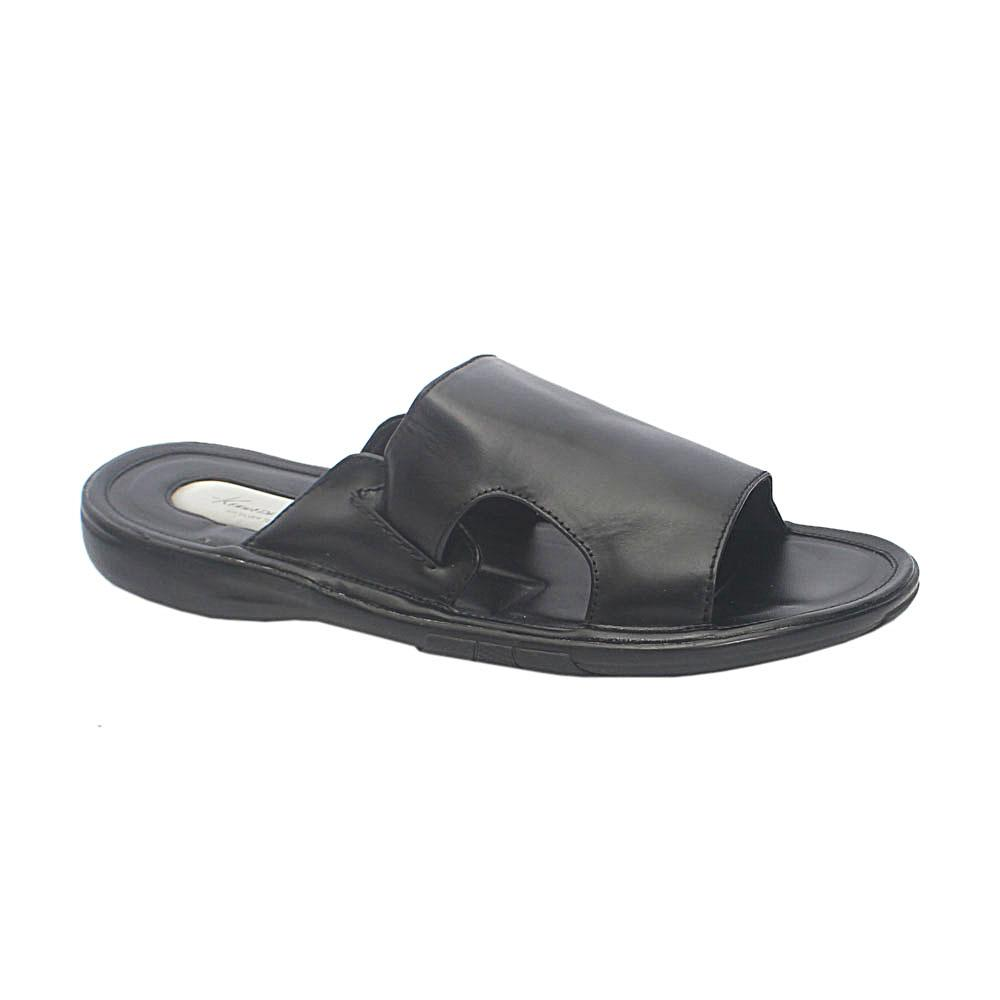 Kenneth Cole Black Premium Leather Slippers