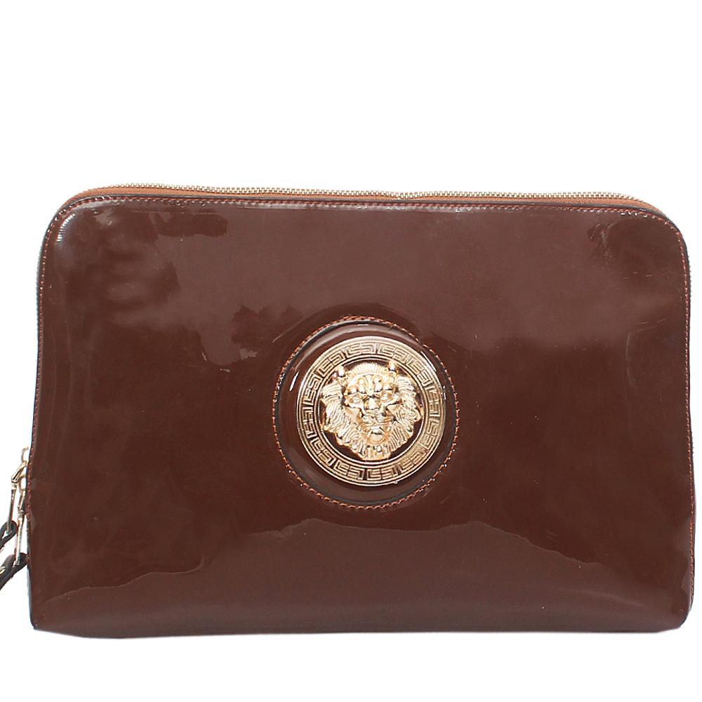 Fashion Brown Ladies Clutch Purse-