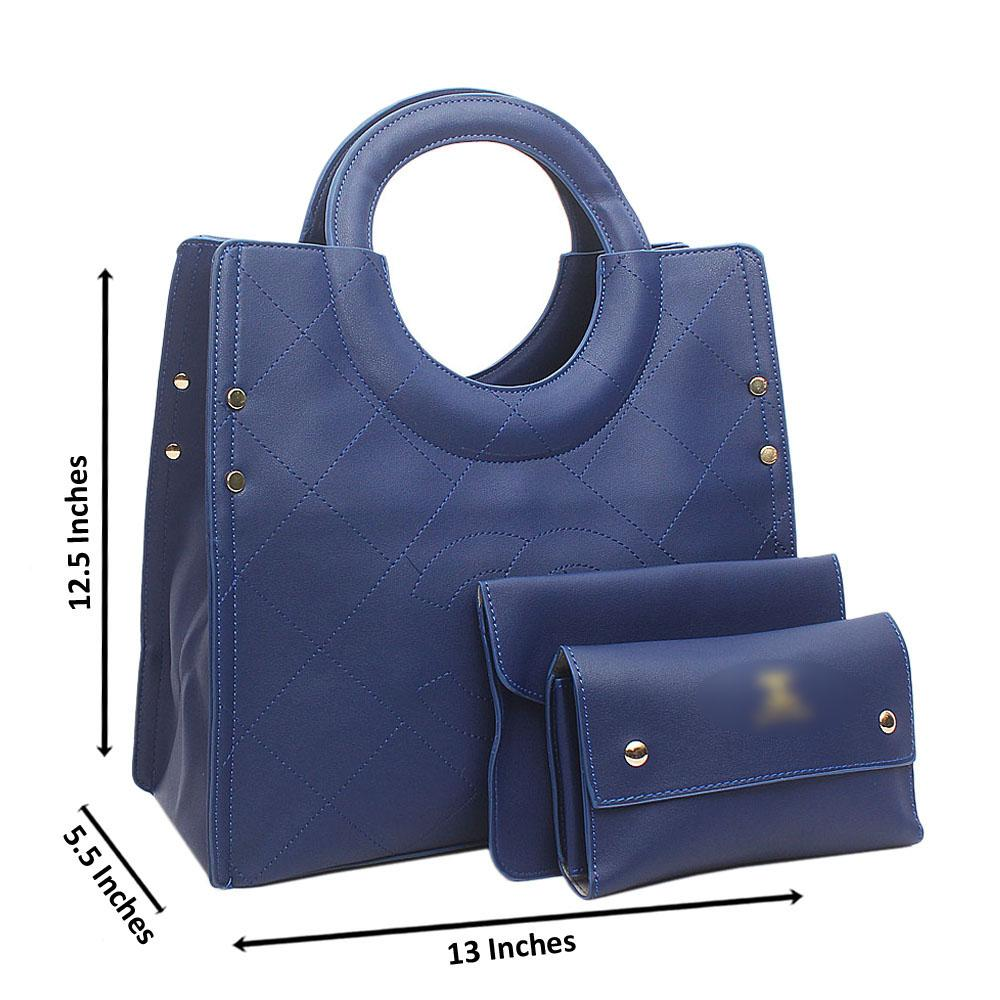 Blue Leather Medium Mabel Bag