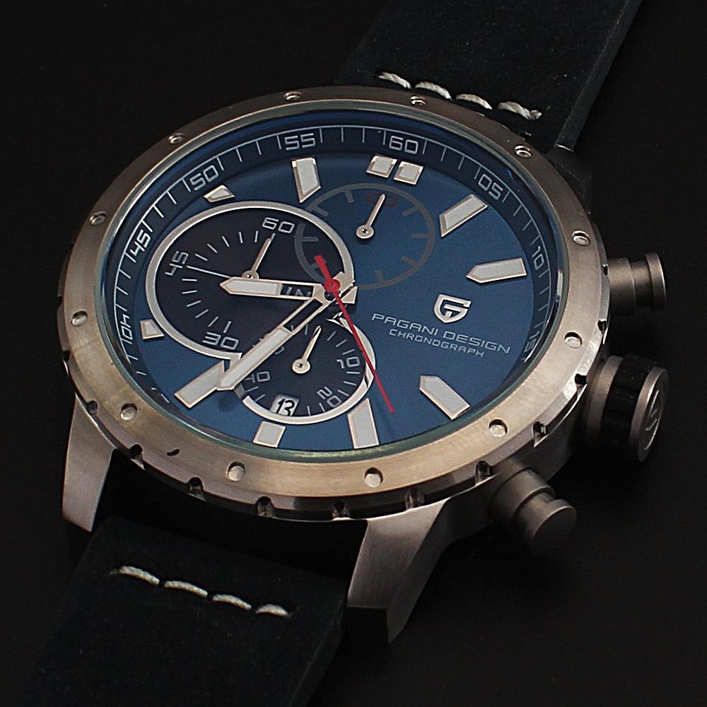 P-Design-Navy-Sport-Chronograph-Watch