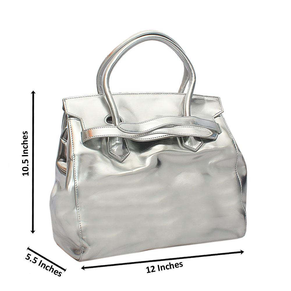 Silver Belted Palazzo Tuscany Leather Handbag