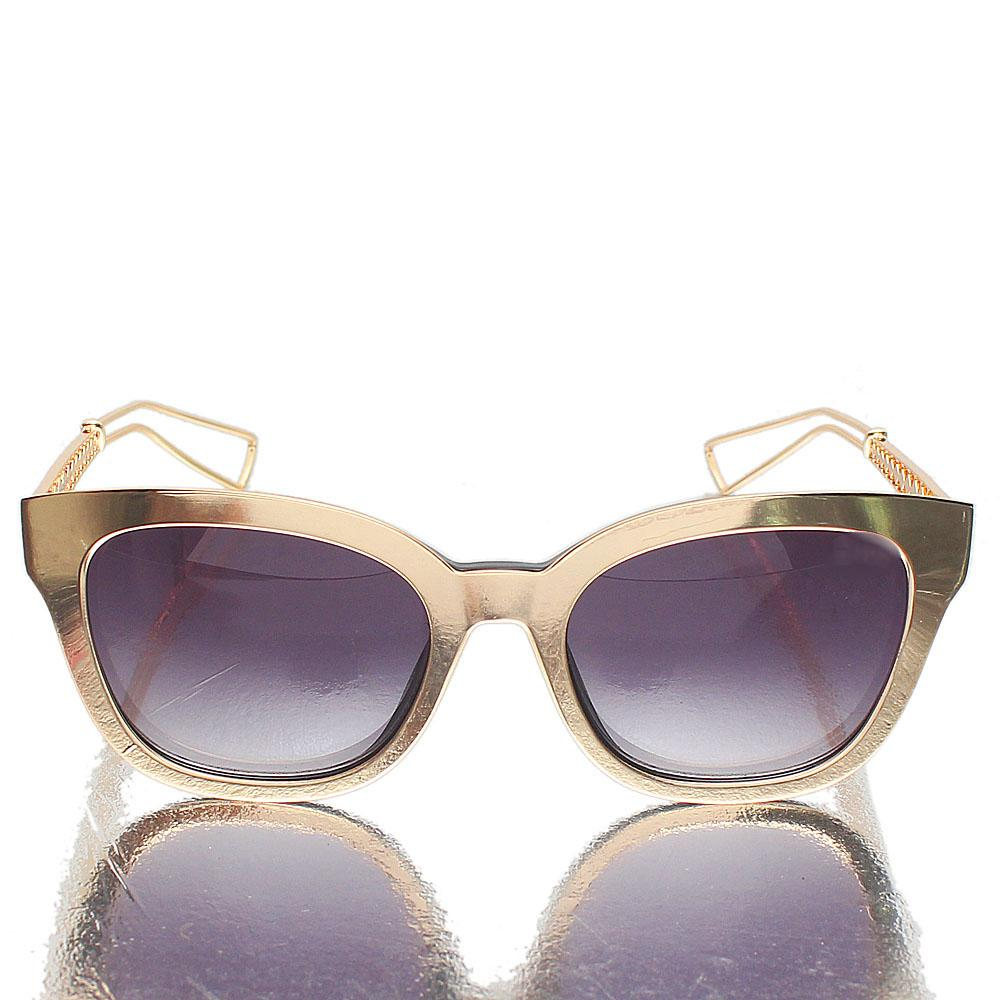 Gold Butterfly Dark Lens Sunglasses