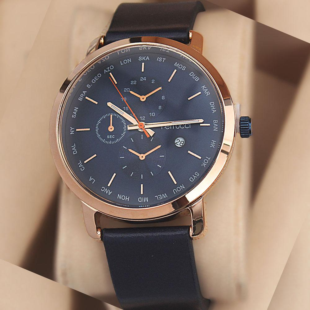 Ferruci Adelia Navy Leather Watch