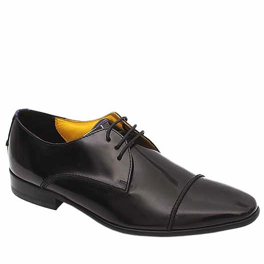 Autograph Black Patent Leather Lace-up Men Shoe-Sz 40.5