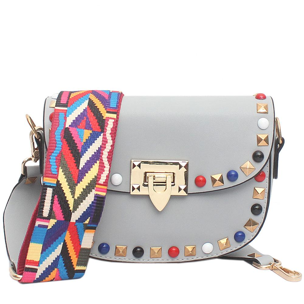 Cute Grey Leather Small Bag