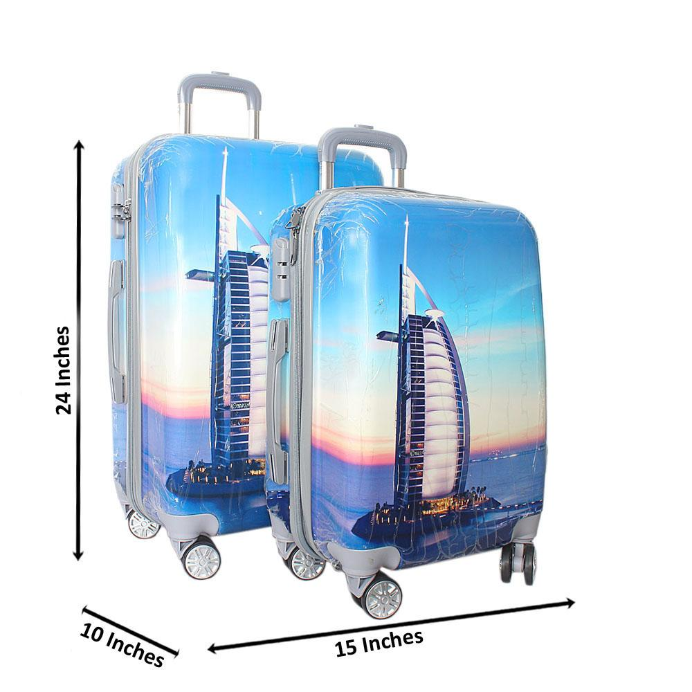 Dubai 24 inch wt 20 inch 2-in-1 Hardshell Spinners Suitcase Set